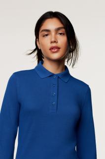 Damen-Longsleeve-Poloshirt Performance, Hakro 215 // HA215