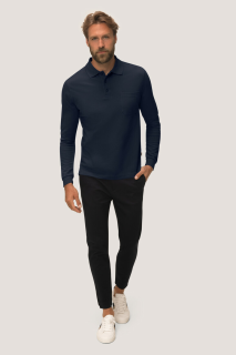 Longsleeve-Pocket-Poloshirt Top, Hakro 809 // HA809