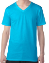 Featherweight V-Neck Tee, Anvil 362 // A362