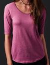 Women`s Tri-Blend Deep Scoop 1/2 Sleeve Tee, Anvil 6756L // A6756L