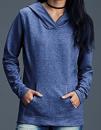 Women`s Crossneck Hooded Sweatshirt, Anvil 72500L // A72500L