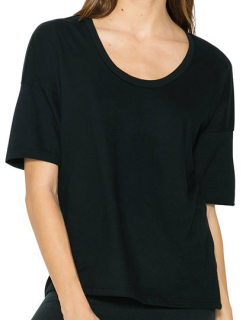 Women`s Power Wash Deep U-Neck T-Shirt, American Apparel RSA2320W // AM2320