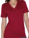 Unisex Fine Jersey V-Neck T-Shirt, American Apparel 2456W...