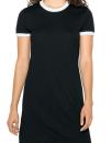 Women`s Poly-Cotton Ringer T-Shirt Dress, American...