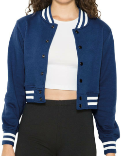 Women`s Heavy Terry Cropped Club Jacket, American Apparel HVT3529W // AM3529