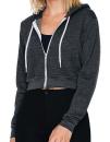 Women`s Flex Fleece Cropped Zip Hooded Sweatshirt,...