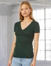 Women`s Triblend Deep V-Neck T-Shirt, Bella 8435 // BL8435