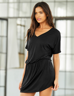 Women`s Flowy V-Neck Dress, Bella 8812 // BL8812