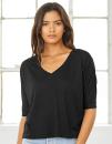 Boxy Half Sleeve V-Neck T-Shirt, Bella 8825 // BL8825