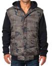 Hooded Fleece Sleeved Puffer Vest, Burnside 8701 // BU8701