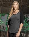 Ladies` 3/4 Contrast Raglan Tee, Build Your Brand BY022...