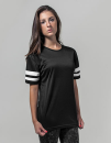 Ladies` Mesh Stripe Tee, Build Your Brand BY033 // BY033