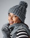 Cable Knit Melange Beanie, Beechfield B480 // CB480