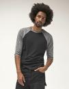 Unisex 3 / 4 Sleeve Baseball T-Shirt, Canvas 3200 // CV3200