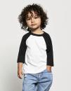 Toddler 3/4 Sleeve Baseball Tee, Canvas 3200T // CV3200T