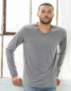 Unisex Jersey Long Sleeve V-Neck T-Shirt, Canvas 3425 //...