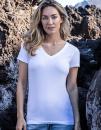 Women`s Slim Fit V-Neck-T, Promodoro 3086 // E3086
