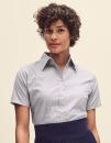 Ladies Short Sleeve Oxford Shirt, Fruit of the Loom...