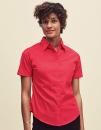 Ladies Short Sleeve Poplin Shirt, Fruit of the Loom...