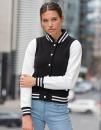 Girlie Varsity Jacket, Just Hoods JH043F // JH043F