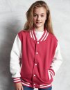 Kids` Varsity Jacket, Just Hoods JH043J // JH043K