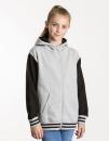 Kids` Urban Varsity Zoodie, Just Hoods JH051J // JH051J