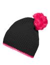 Pompon Hat with Contrast Stripe, myrtle beach MB7964 //...
