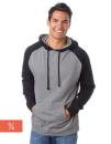 Men`s Lightweight Raglan Hooded Pullover, Independent...