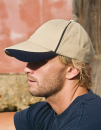 Heavy Brushed Cotton Cap with Scallop Peak and Contrast...