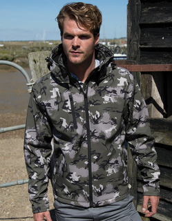 Camo TX Performance Hooded Softshell Jacket, Result R235X // RT235
