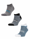 3-Pack Mixed Stripe Coolmax Sneaker Socks, SPIRO S295X //...