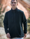 Men Fleece Jacket Besila, Schwarzwolf outdoor  // SCH712000