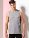Men`s High Neck Slash Armhole Vest, SF Men SF232 // SFM232