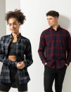 Men`s Brushed Check Casual Shirt, SF Men SF560 // SFM560