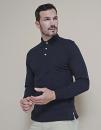 Long Sleeved Cotton Piqué Polo Shirt, Henbury H105...