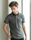 Men`s 2-Tone Pique Tipped Polo Shirt, Henbury H151 // W151