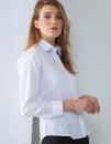 Ladies` Long Sleeved Pinpoint Oxford Shirt, Henbury H551...
