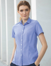 Ladies` Gingham Cofrex/Pufy Wicking Short Sleeve Shirt,...