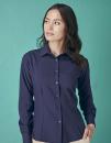 Ladies` Wicking Long Sleeve Shirt, Henbury H591 // W591