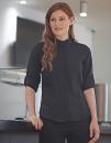 Ladies` Mandarin Shirt Roll Tab Sleeve, Henbury H593 // W593
