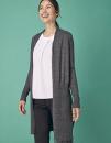 Ladies` Longline Open Cardigan, Henbury H719 // W719