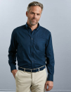 Men`s Long Sleeve Classic Twill Shirt, Russell Collection...