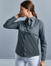 Ladies` Long Sleeve Classic Polycotton Poplin Shirt,...