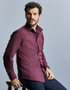 Men`s Long Sleeve Fitted Stretch Shirt, Russell...