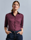 Ladies` 3/4 Sleeve Fitted Stretch Shirt, Russell...