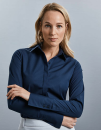 Ladies` Long Sleeve Fitted Ultimate Stretch Shirt,...