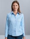 Ladies` Long Sleeve Tailored Herringbone Shirt, Russell...