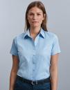 Ladies` Short Sleeve Tailored Herringbone Shirt, Russell...