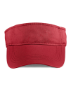 Low-Profile Twill Visor, Anvil 158 // A158 Red | One Size