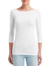 Women`s Stretch 3/4 Sleeve Tee, Anvil 2455L // A2455L White | XS